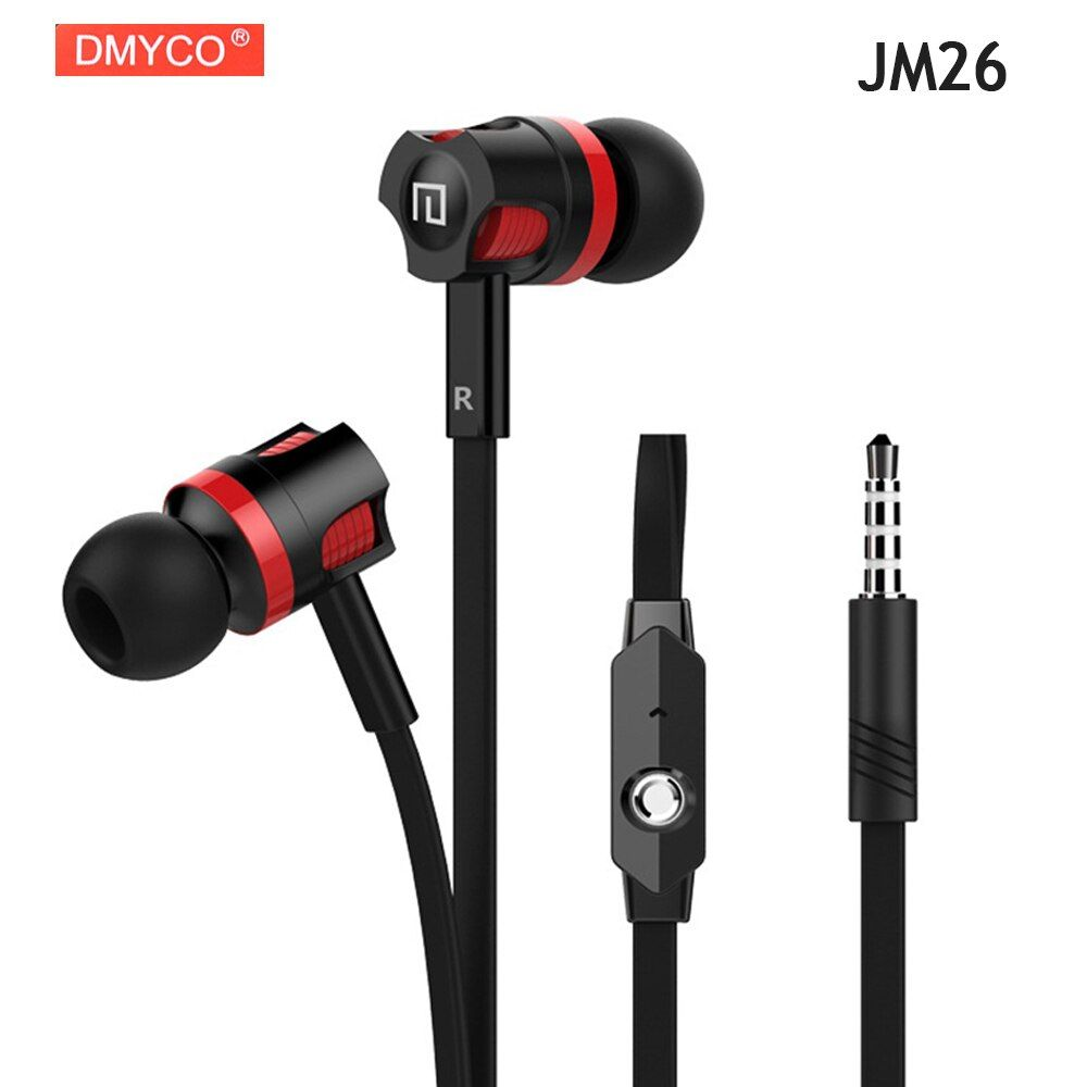 Universal DMYCO JM26 Headphone Original Earphone Good Quality Professional Portable Headset +Microphone for Smart Mobile Phones