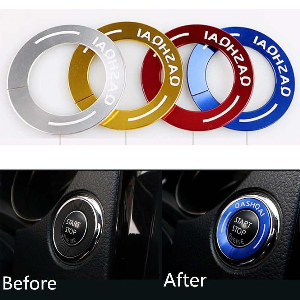 Car Styling Ignition Switch Decoration Stickers Ignition Key Ring Key Hole Cover For Nissan Qashqai 2016 2017 Accessories 1pc