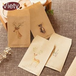 8 pcs/lot vintage deer animal paper envelope scrapbooking envelopes small envelopes kawaii stationery gift