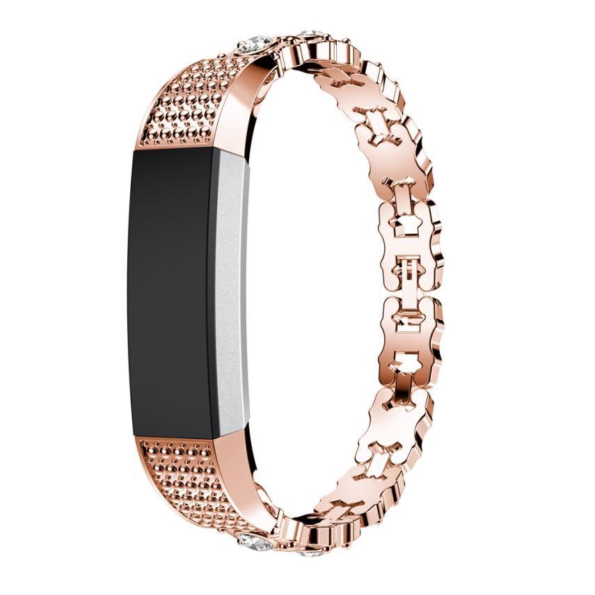 Роскошные Нержавеющаясталь вахты набор кристалл, ремешок на запястье яркий Цвет Смарт-часы полос для Fitbit Alta hr/Fitbit Alta july28