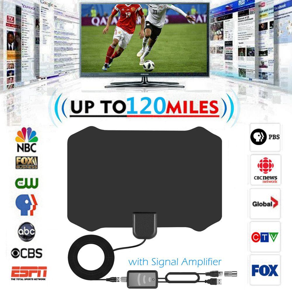 Intérieur POUR TVHD Numérique TV Antenne + Signal Amplificateur Booster VHF UHF Câble TV Surf Renard Antennes TV Rayon Antennes DVB-T/T2