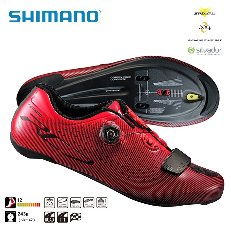 SHIMANO SH RC7 SPD SL Road Cycling Bike Shoes Riding Equipment Athletic Bicycle Cycling Locking Shoes