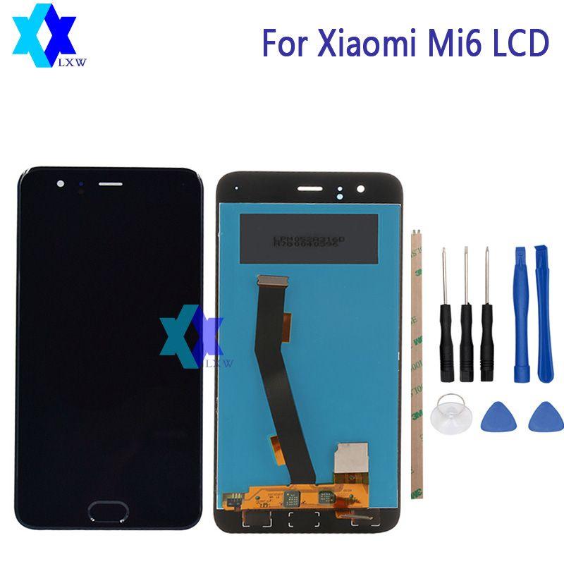 Für Xiaomi Mi6 LCD NO fingerprint sensor Display + Touch Panel Digitale Ersatzteile Montage Original 1920x1080 P Lager