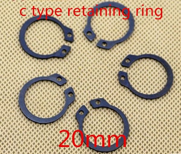 100pcs/lot m20 20mm  C type snap ring ,C type retaining clip ring washer alloy steel