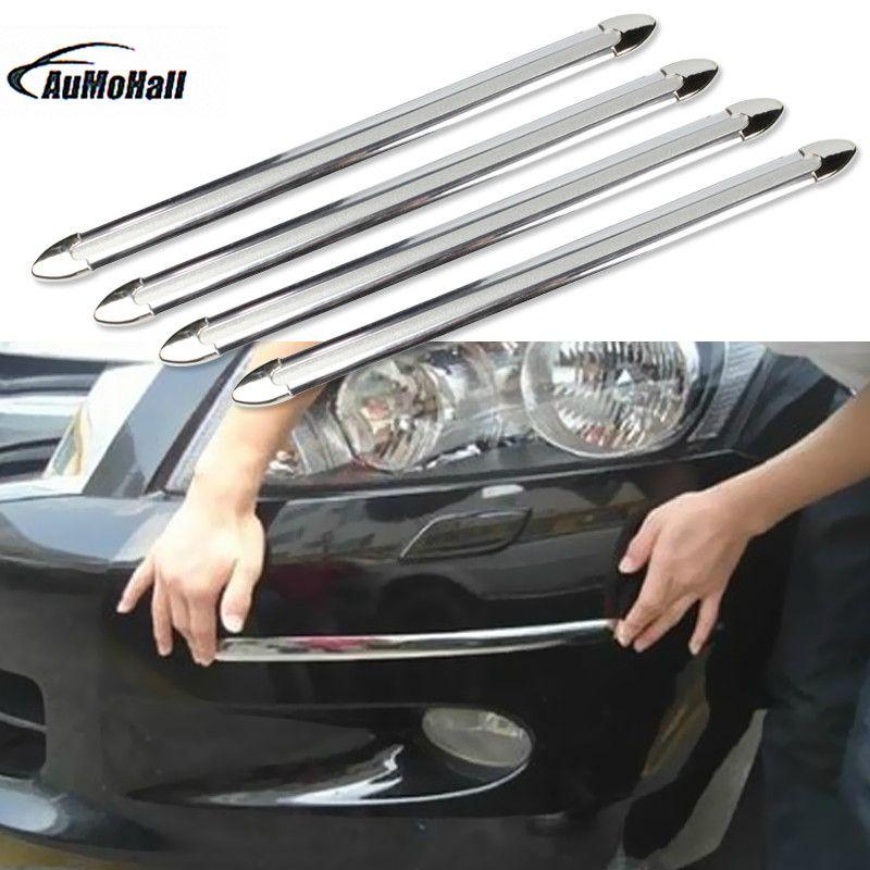 4pcs Car Anti-collision Strip Bumper Protector Car Crash Bar Anti-rub Bar Retail Bumper Crash Styling Mouldings Hot Sale
