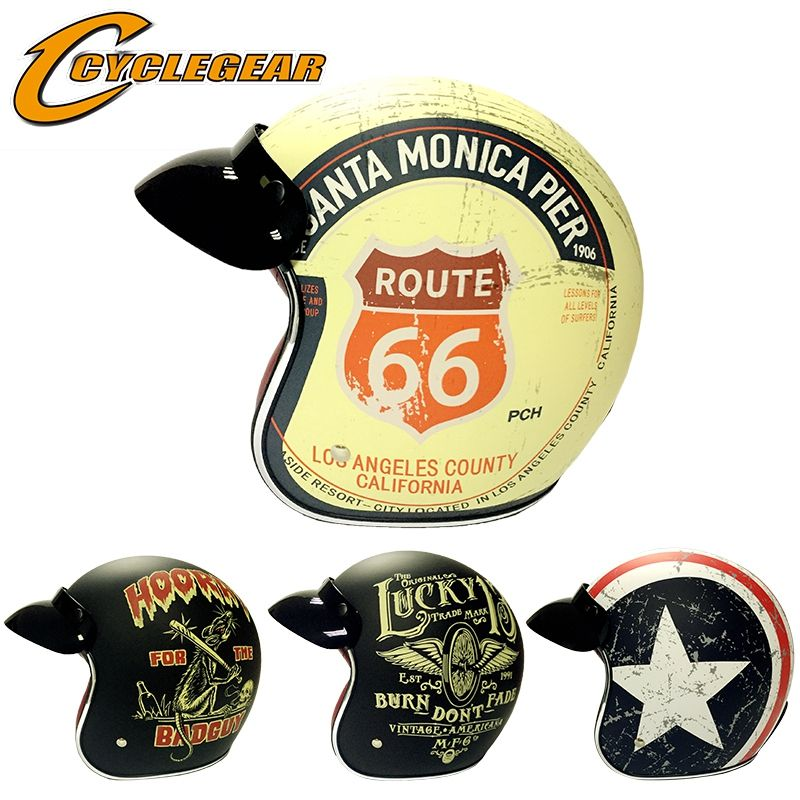 Harley Retro Helmets Chopper Vintage Motorcycle Helmet Motocicleta Cacapete Casco Casque DOT Approval CG512