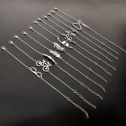 Style Simple Argent Plaqué Charme Bracelet Bijoux Cadeau Amour De Mariage Banquet Gros Top Qualité