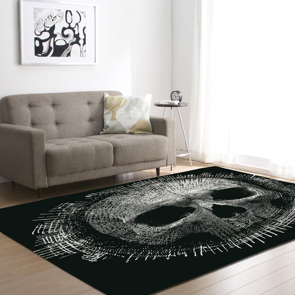 2017 Creative Skull Delicate Europe Soft Carpet For Living Room Bedroom Kid Play Delicate Rug Home Floor Fashion Study Room Mat