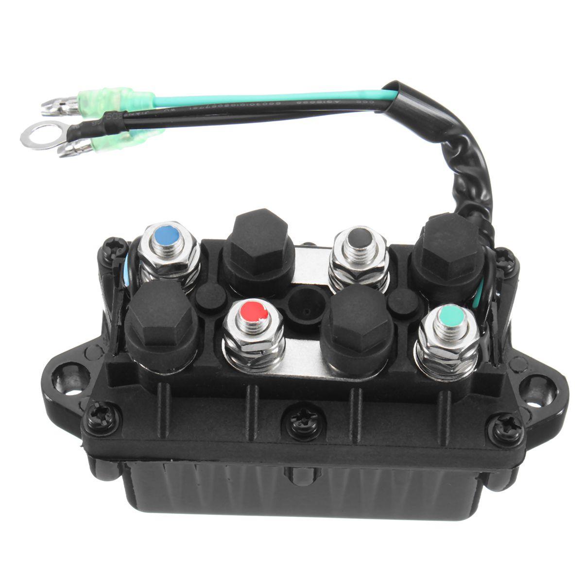 Boat Motor Power Trim Relay for Yamaha 30-90HP 6H1-81950-00-00 Engine 3 Pin 12V+-20% 120A Waterproof Aluminum Bronze+Plastic