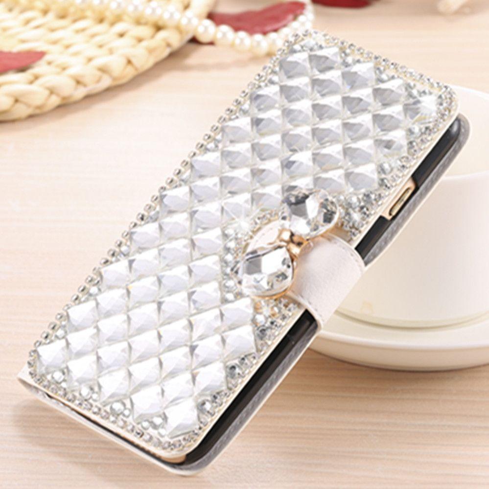 Diamant Flip Mappenkasten Abdeckung für Huawei P10 Honor 3 3C 3X 4C 4A 4X 5X 5C 5A 6 Plus 6X7 lite 7i 8 V8 V9 GT3 Genießen 6 Bee