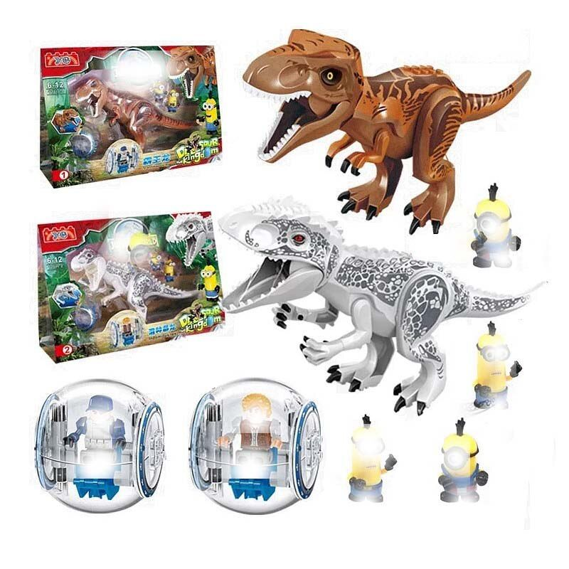 Legoing Jurassic World Dinosaurs Tyrannosaurus Rex Pterosauria Triceratops Building Blocks Toys For Children Legoings Dinosaur