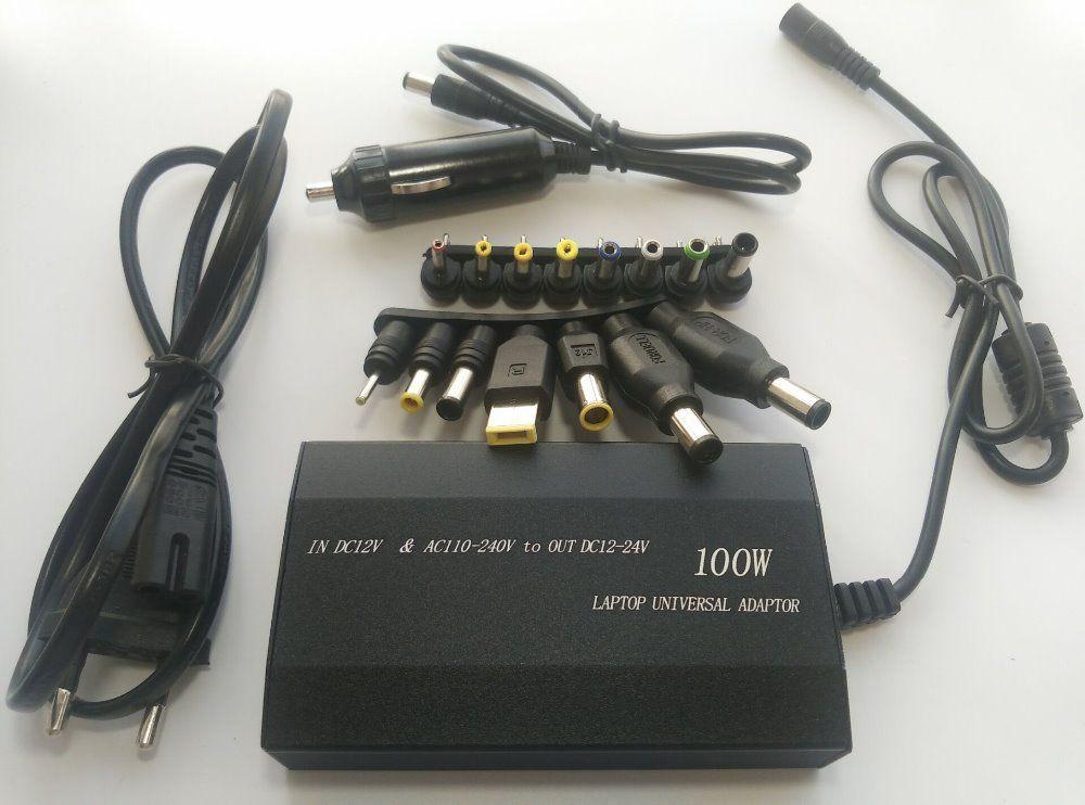 100W universel multifonction alimentation pour ordinateur portable adaptateur voiture chargeur pour ordinateur portable/téléphone portable/ordinateur portable USB alimentation et 15 connecteur