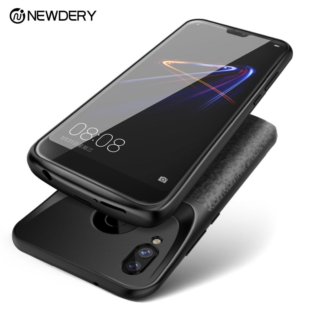 Newdery newest battery case for Honor 8 9 10 power external charging case for Huawei P20 Lite / Nova 3e black slim power bank