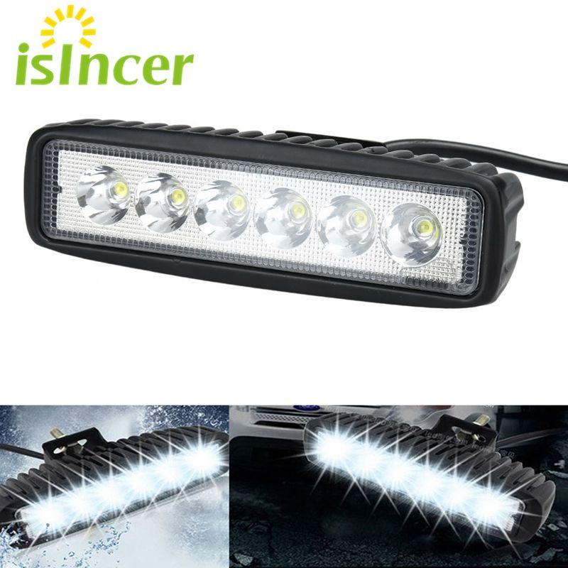 Car Styling Spotlight 18W Car LED Work Lights Bar Flood Light for trucks 24V 12V LED Off road Lamp Tractor Motorcycle Light Bulb