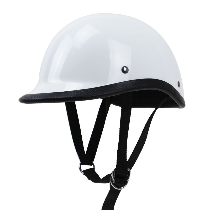 TT&CO style half face motorcycle helmet light weight cap style Fiberglass shell DD ring buckle retro vintage helmet