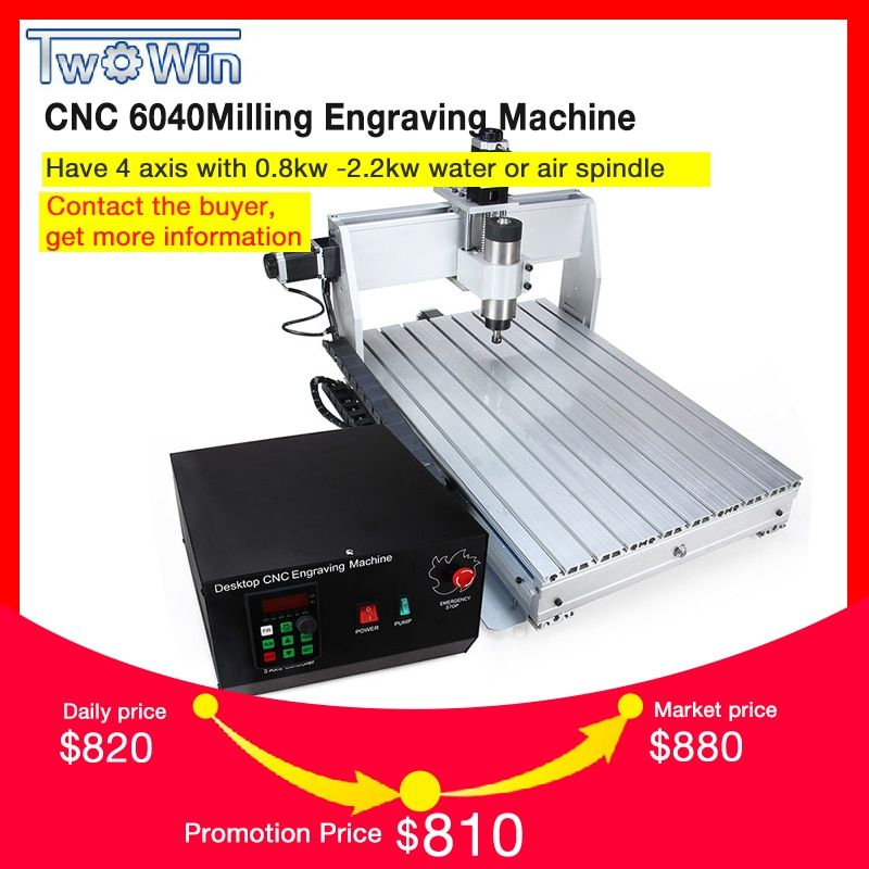 800W/1.5KW CNC 6040 3 axis CNC router CNC wood carving machine USB Mach3 control Woodworking Milling Engraver Machine