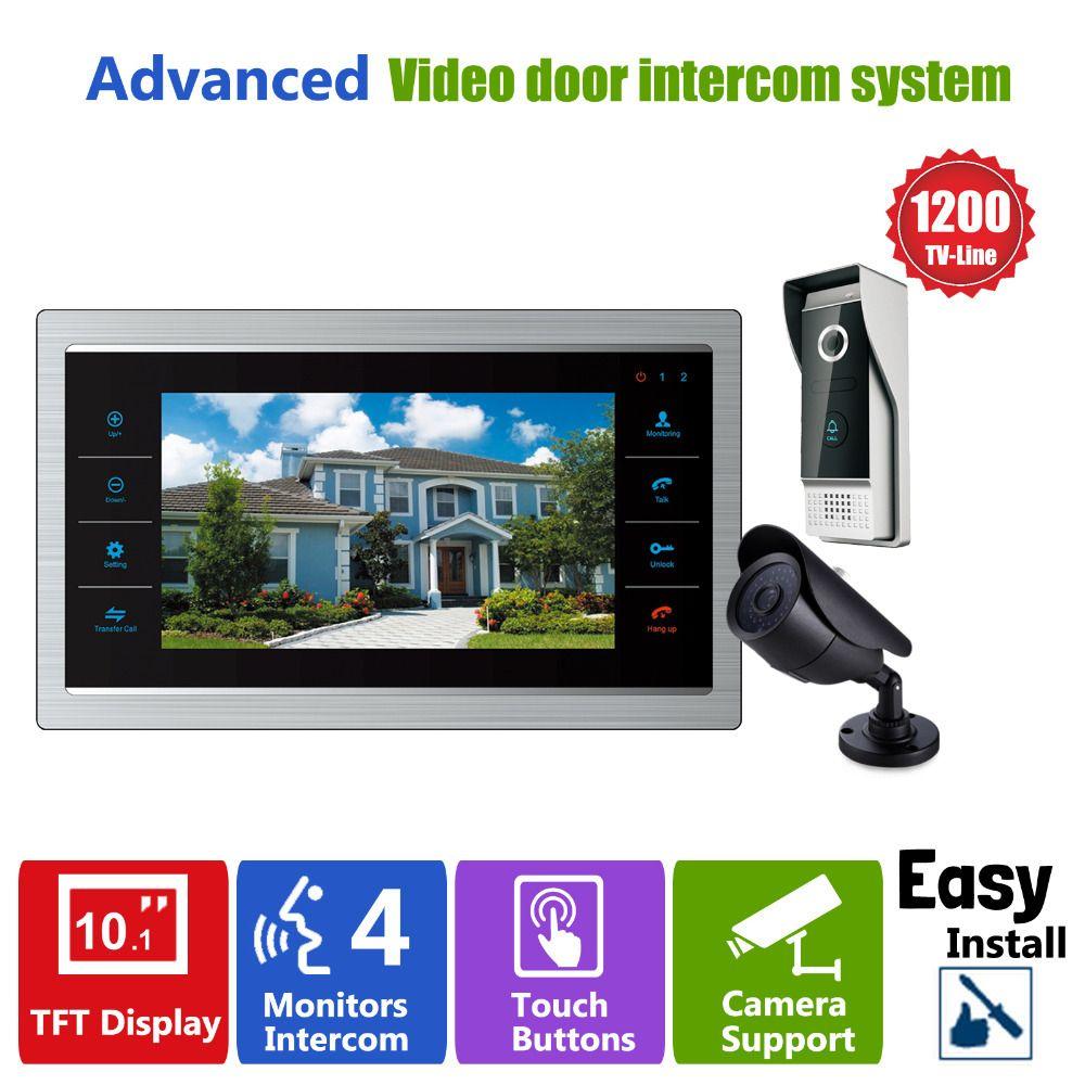Homefong Door Video Camera Video Doorbell System with Camera 3.7MM Lens Security 1200TVL 1V1V1 Home Apartment Entry Kit