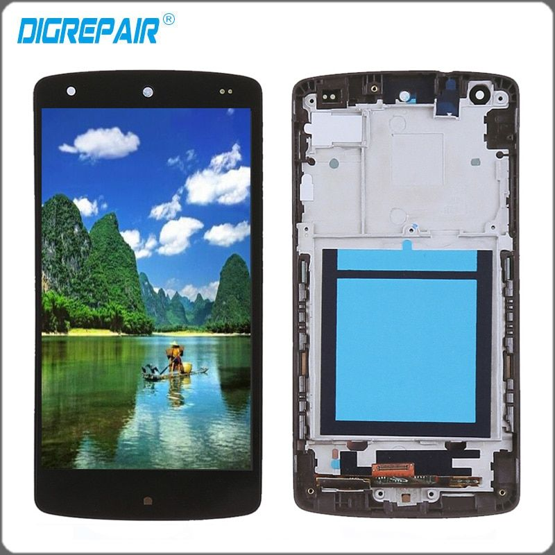 For LG Google Nexus 5 display D820 D821 LCD Display Touch Screen Digitizer with Bezel Frame Full Assembly Replacement parts