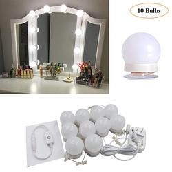 LED 12V Makeup Mirror Light Bulb Hollywood Vanity Lights Stepless Dimmable Wall Lamp 6 10 12Bulbs Kit for Dressing Table