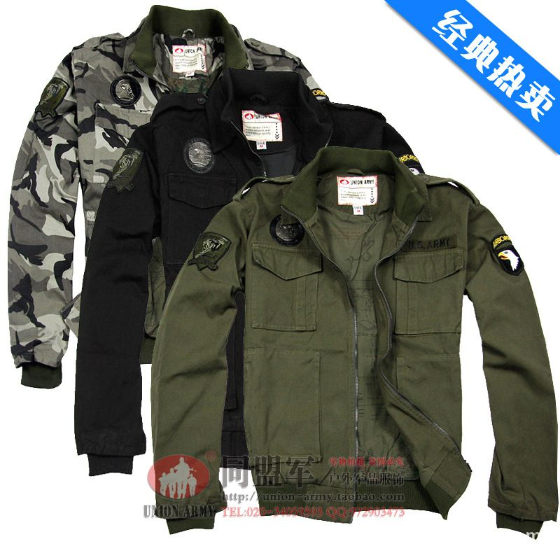 Hot Classic Style Men's Military Camouflage Jackets Eagle Embroidery Pilot Jacket Usa Army Air Force Coat Jacket 3 colors