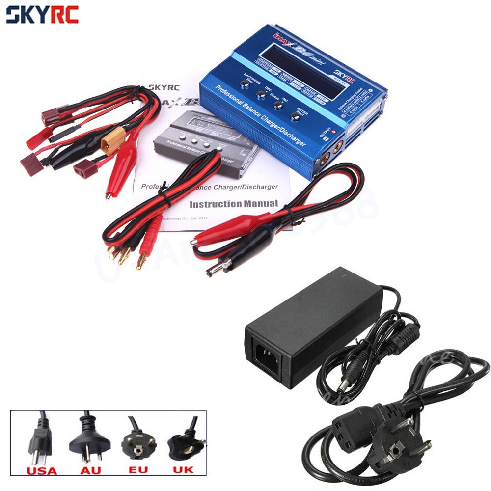 Original SKYRC IMAX B6 MINI 60W Balance RC Charger/Discharger For RC Helicopter Re-peak for NIMH/<font><b>NICD</b></font> Aircraft + Power Adpater