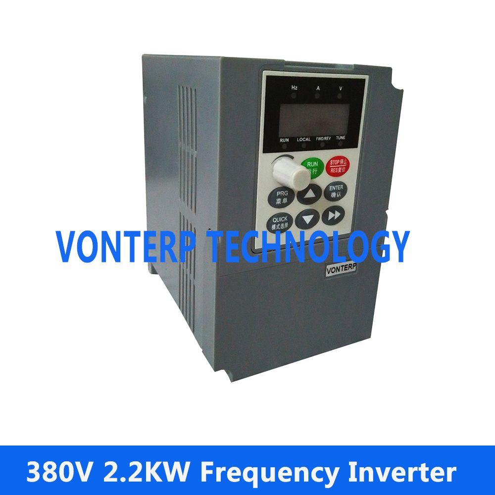 2200 watt 380 V 3 Einphasen-wechselstrommotor Drehzahlregler