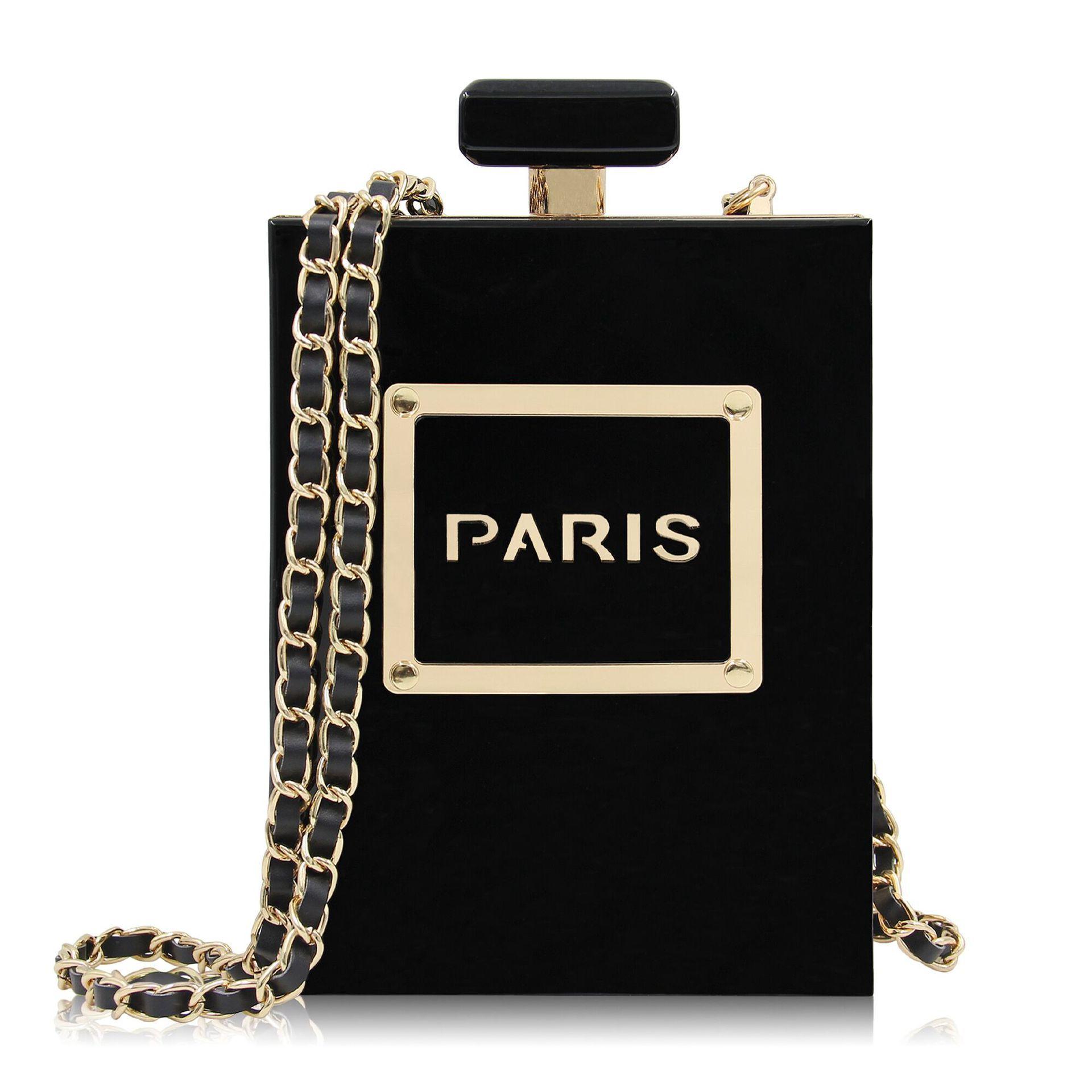 Acrylic Perfume Bottle Transparent Evening Bag Ladies High-end Banquet Clutch Bags