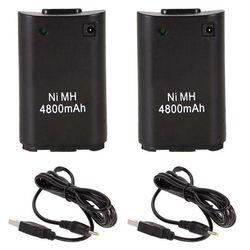 2x4800 мАч батарея пакет + зарядное устройство кабель для Xbox 360 беспроводной игровой контроллер геймпады батарея пакет Xbox 360 Bateria Замена
