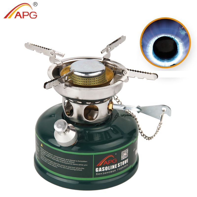APG Camping Gasoline Stove No Noise Oil Stove Burners Outdoor Cookware Picnic Furnace