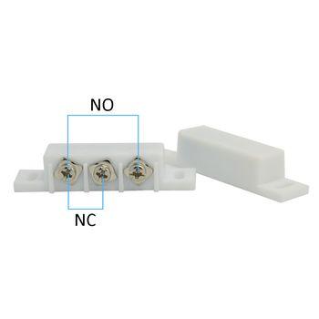 (10 PCS) Filaire En Plastique interrupteur Magnétique Porte Fenêtre Ouverte détecteur NC/NO sortie en option D'alarme accessoires Poitrine lampe Capteur