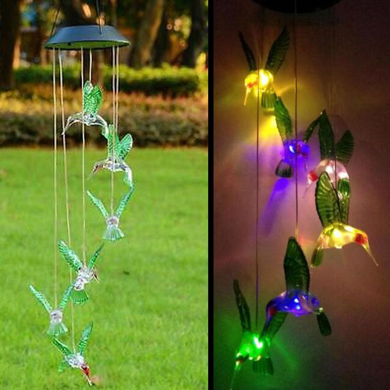 Solar Lamp Color <font><b>Changing</b></font> LED Wind Chimes Light Outdoor Home Garden Decor