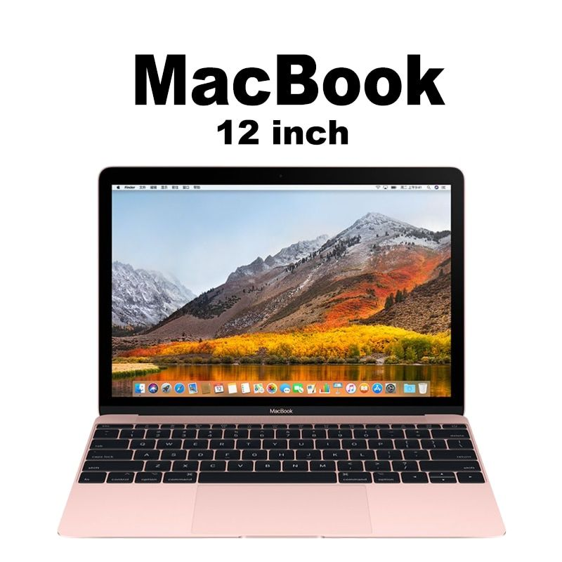 Apple Original 12-inch MacBook Apple Laptop MacOS Notebook support Windows Intel M3 CPU MNYF2 8G memory and 256G SSD