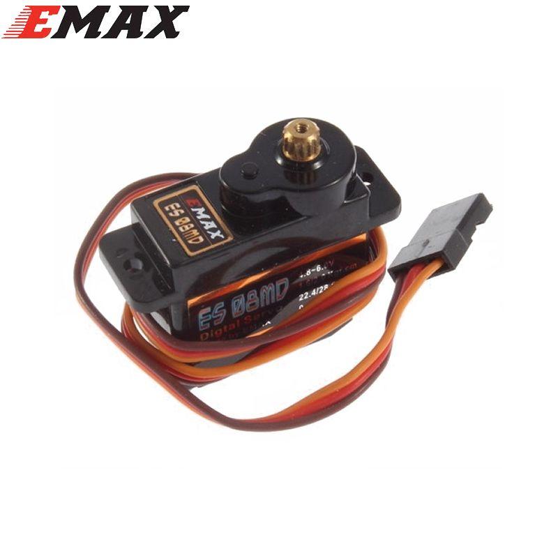 1pcs EMAX ES08MD II Metal GEAR Digital Servo up sg90 ES08A ES08MA MG90S TREX 450
