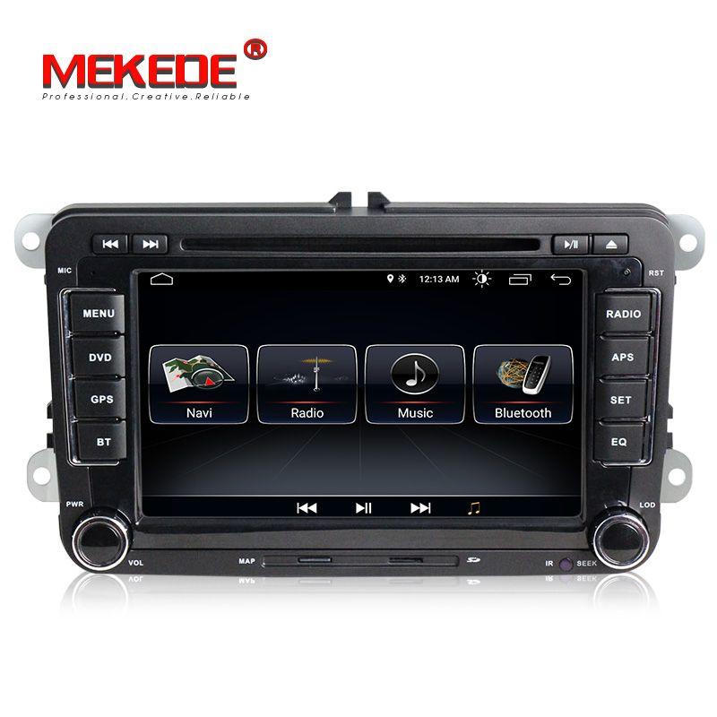 Free shipping! Android8.0 7inch 2din Car GPS DVD player for Skoda Octavia/Fabia/Rapid/Yeti/Superb/VW/Seat navi multimedia radio