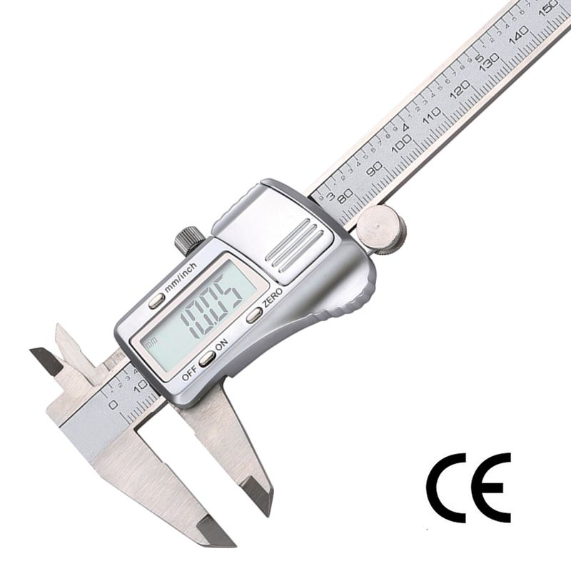 Digital Caliper 0-150mm/0.01 Stainless Steel Electronic Vernier Caliper Measuring Instruments mm/inch Micrometer Measuring Tools