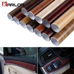 30*100 Cm PVC Kayu Bertekstur Interior Mobil Dekorasi Stiker Tahan Air Furniture Pintu Mobil Vinyl Film Mobil- styling