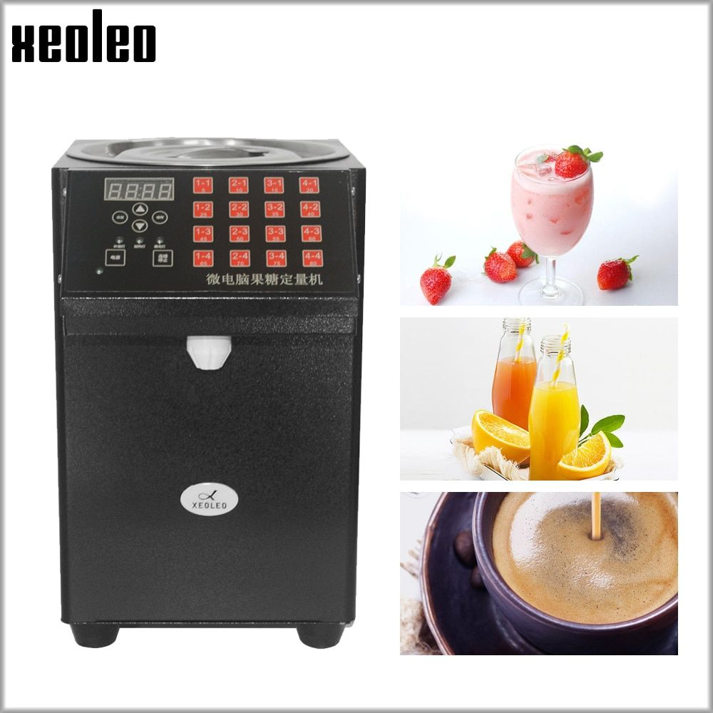XEOLEO 16 Quantitative Fructose maschine Automatische Fructose Dispenser Sirup spender Blase tee shop Milch tee Ausrüstung lävulose