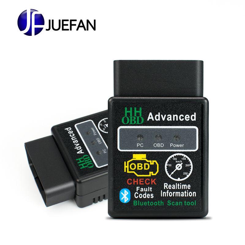 Chaud!!! meilleure qualité voiture chaude Auto ELM327 HH Bluetooth OBD 2 OBD II outil de Diagnostic Scanner elm 327 livraison gratuite