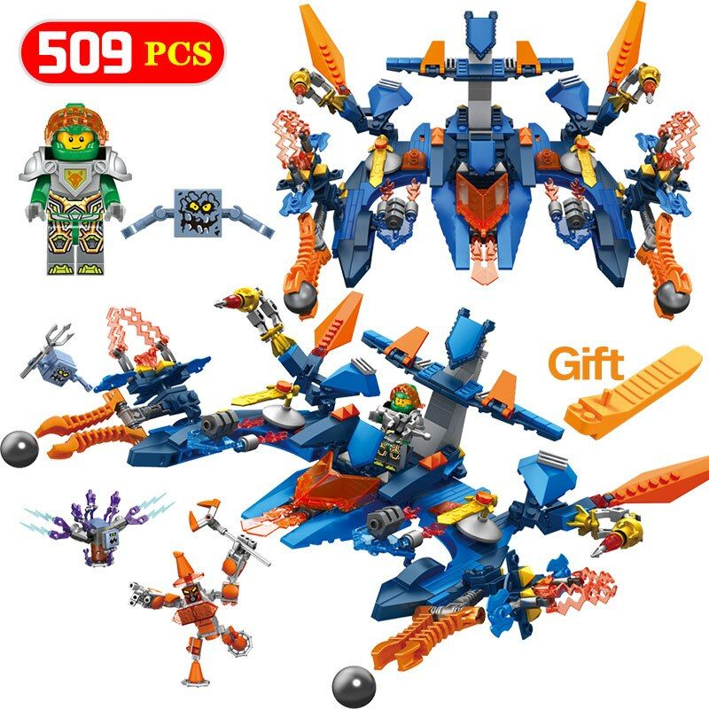 NEXO KNIGHTS Series Space Fighter Compatible LegoINGLY Knight Aaron Fox Building Blocks Bricks Education Toys For Children
