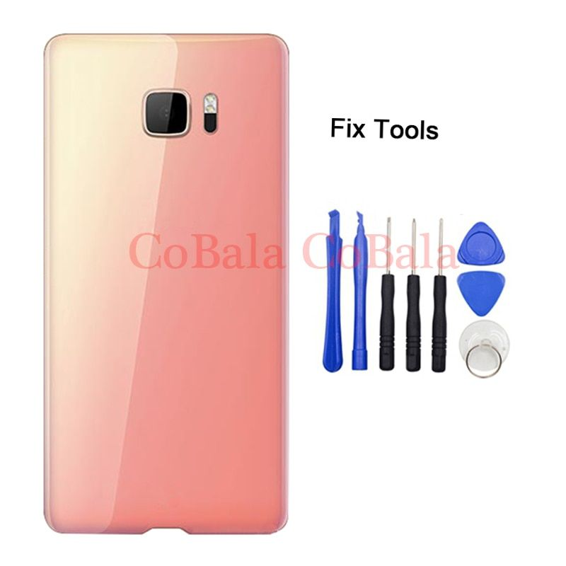 LOVAIN 1Pcs Genunie Original For HTC U Ultra Back Battery Cover Rear Door Panel Glass Housing Case Repair Part With Tools