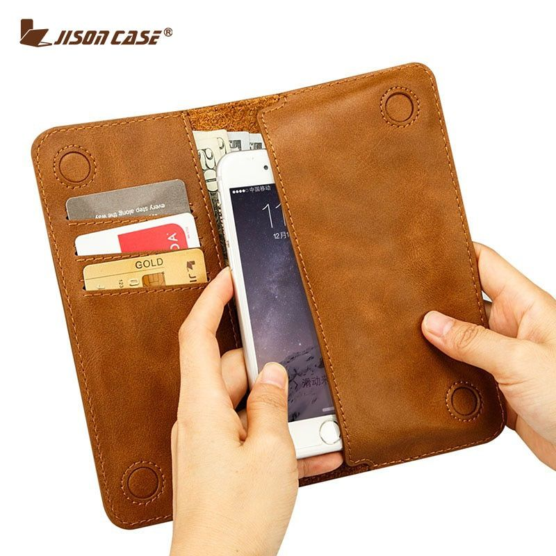 Jisoncase Case for iPhone 6 6s 7 4.7 Wallet Pouch for iPhone 6 plus 6s plus 5.5 PU Leather Card Slot Luxury Phone Bags & Cases