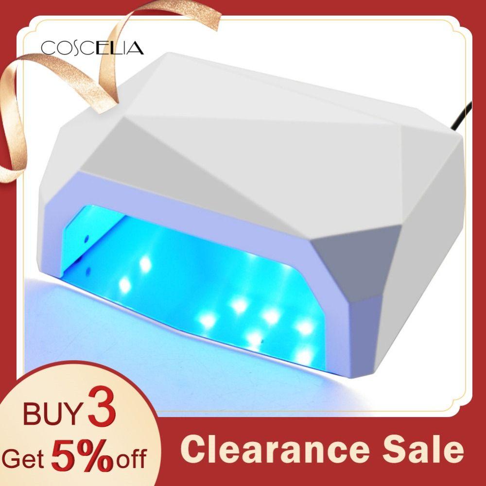36 W UV LED Lampe Nail Sèche-3 Couleur Diamant En Forme 15 Pcs Perles UV Lampe Ongles Lampe de Durcissement pour UV LED Gel Vernis À Ongles Nail Art Outils