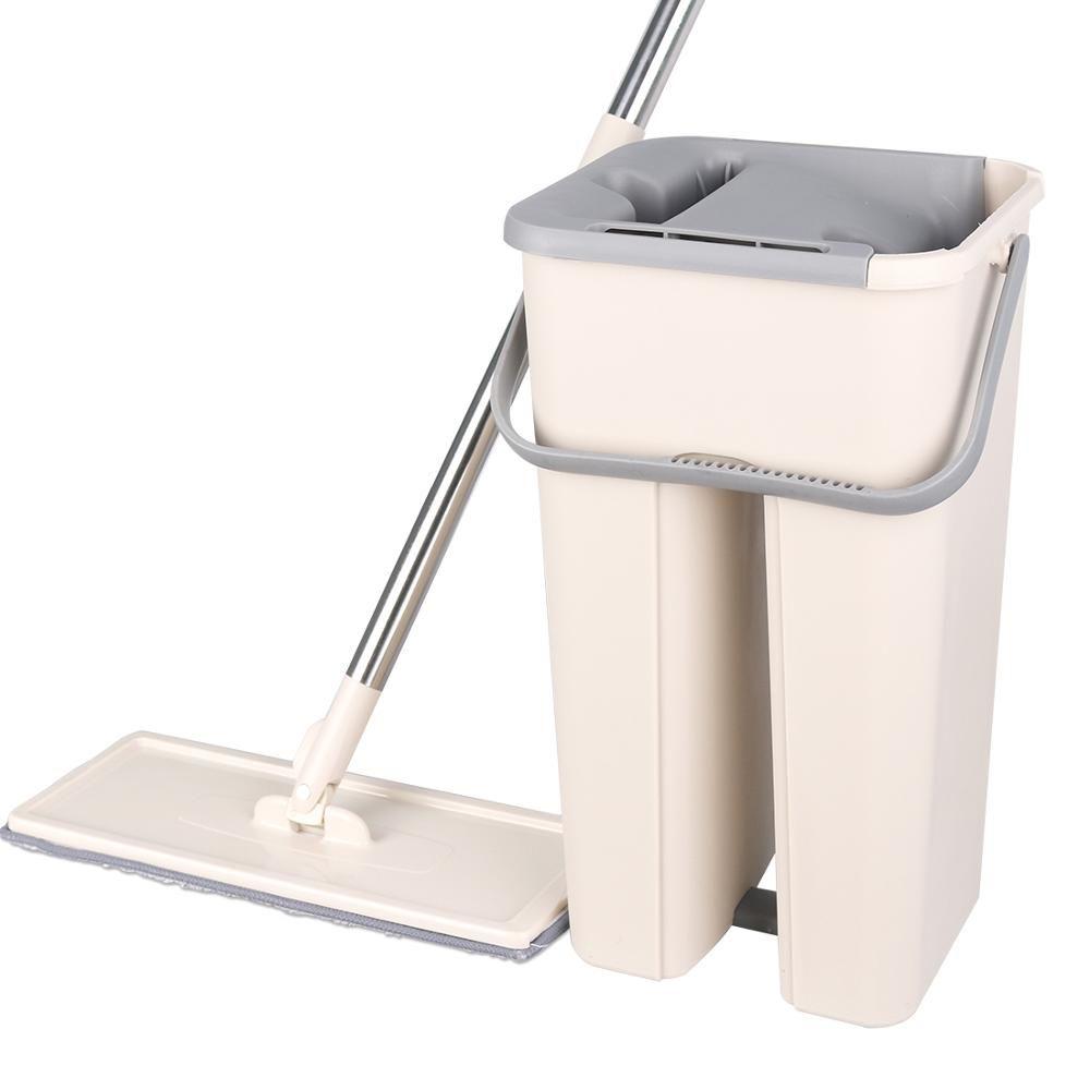Nettoyage magique vadrouilles main libre essorage nettoyage microfibre vadrouille avec seau plat presser Spray vadrouille maison cuisine sol propre