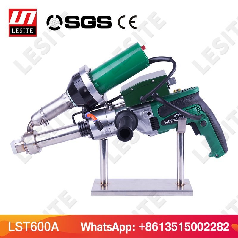 3400W Handheld extruder plastic extrusion welding machine hot air plastic welder gun for PP HDPE sheet geomembrane