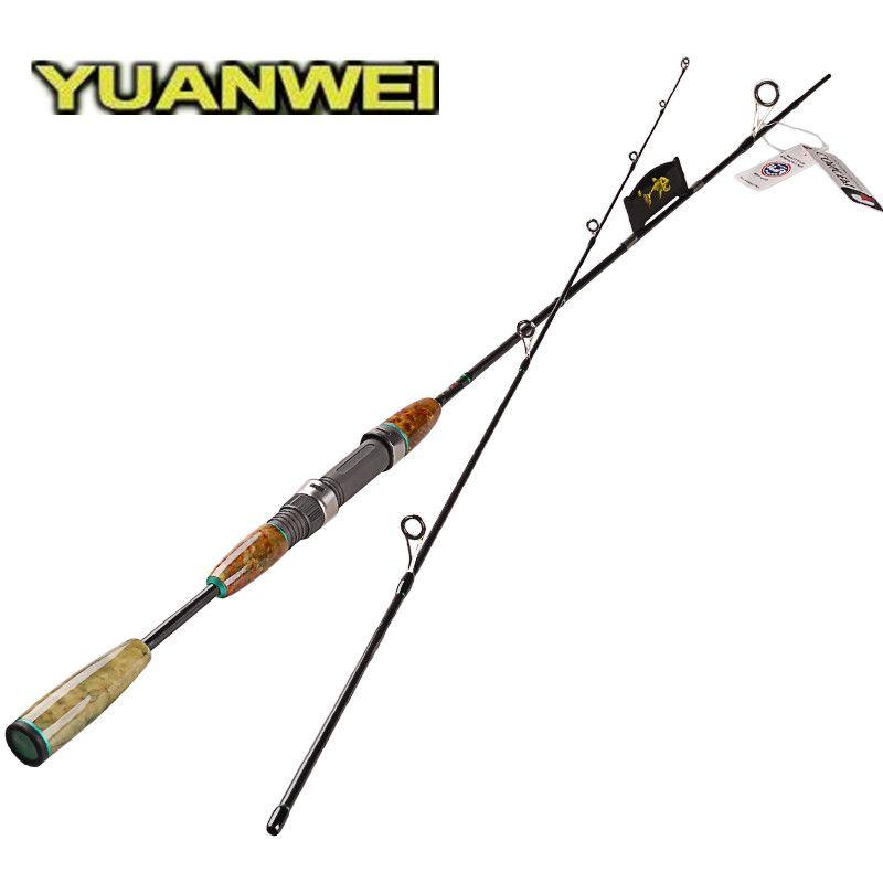 YUANWEI 1.8m 2.1m Spinning Fishing Rod FUJI Guide Ring and FUJI Reel Seat 2 Section Lure Fishing Spinning Rod L UL Vara De Pesca