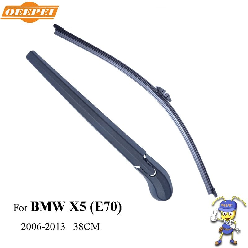 QEEPEI Rear Wiper Blade and Arm For BMW X5 E70 5-door SUV 38cm 2006-2013 Car Accessories For Auto Wipers RBW14-2A