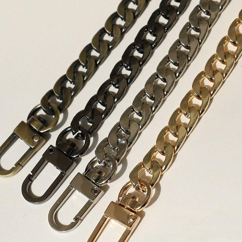 120cm (DIY 40cm-140cm) Metal Replacement Chain Shoulder Bag Straps 9mm Gold, Silver, Gun Black, Bronze Chains Straps, Handles