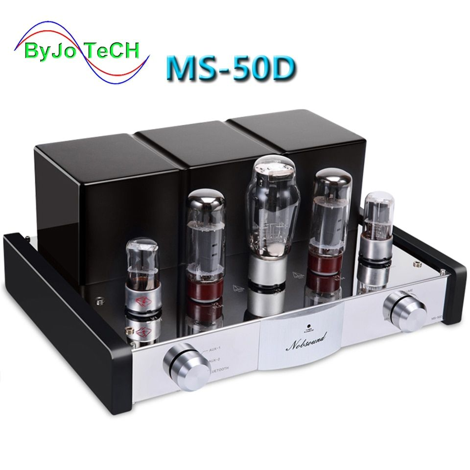 Nobsound MS-50D Tube Amplifier HI-FI Amplifier 2.1 Channels Amp Vaccum Tube AMP Bluetooth Amplifier and USB MS-10D 30D Upgraded