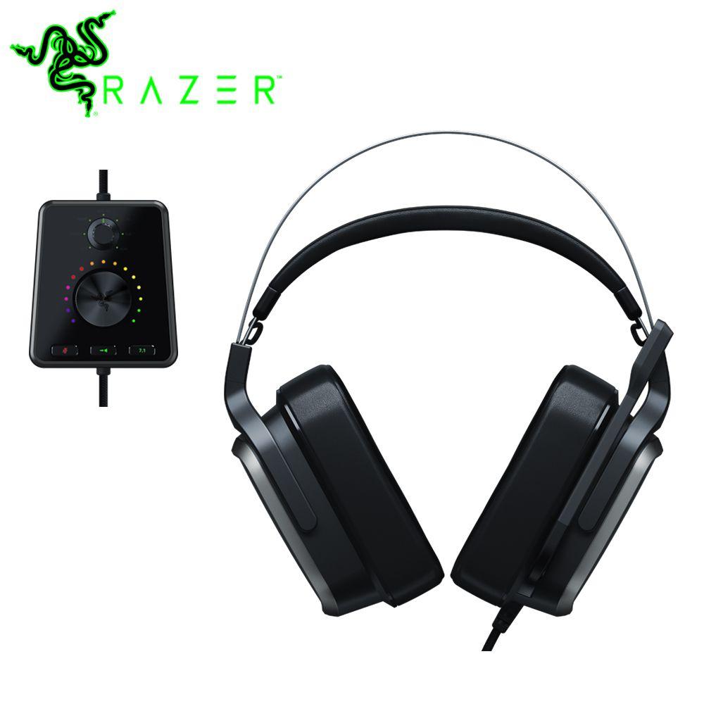 Razer Tiamat 7,1 V2 Analog Gaming Headset mit Mic 50 mm Benutzerdefinierte Abgestimmt Treiber Kopfhörer Digital Surround Sound Gaming Kopfhörer
