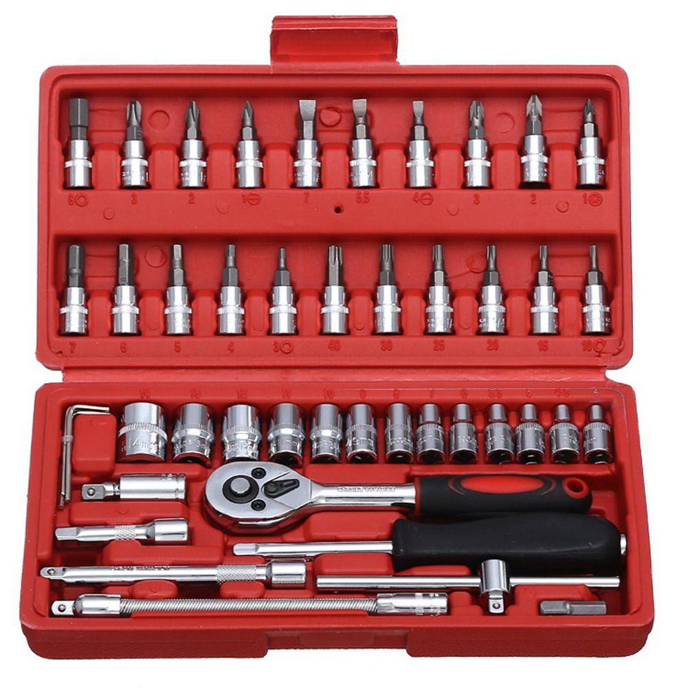 1/4-zoll Steckschlüssel Auto Reparatur Werkzeuge Set Ratsche Drehmoment Wrench Combo Tool Kit Sets ferramentas